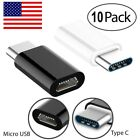 10 Pk USB 3.1 Type C Male to Micro USB Female Adapter Converter Connector USB-C