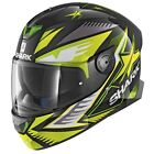 Shark SKWAL 2 DRAGHAL KGY Black Green Yellow With LED LIGHTS