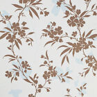 Graham & Brown Vinyl Floral Wallpaper - Vogue - Blue/Brown 17048