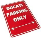 Ducati Parking only Parkschild rot 641200400