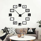 Large 12 Photo Frame Diy Wall Clock Creative Show Family Picture Silent