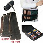 1 Canvas Pencil Roll Up Storage Case Bag Pen Wrap  Holds For 36 48 Art Supply