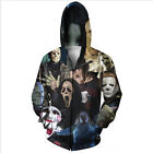 the newest horror movies 2014 - Newest Fashion Men's Horror Movie/Shark/Zombie 3D Hoodies Zipper Outerwear DV30