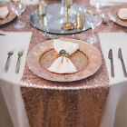 30x275cm Glitter Sequin Table Runner Cloth Sparkly Wedding Birthday Party Decor
