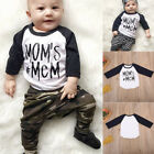 """US Stock """"MOM'S MCM"""" Toddler Baby Boy Long Sleeve Top Tee T-shirt Cotton Clothes"""