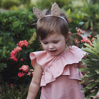 Baby Girls sleeveless Lotus Leaf Cross-Front Butterfly Wing back shaped Dress *1