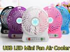 Portable Rechargeable LED Mini Fan Air Cooler Operated Desk USB 18650 Battery US
