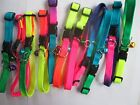 New Solid Varigated Candy Color Adjustable Puppy/Cat Collar/Bell