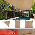 Sun Shade Sail Outdoor Top Canopy Patio UV Block 11.5' 16.5' Triangle 16' Square