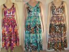 ex John Rocha Tiered Strappy Midi Dress with Sequins ~ Small 12 & 14  NEW