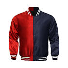 Supreme Men's Satin Jacket Women's College Baseball Letterman Varsity Jackets