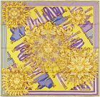 NEW Authentic Hermes Silk Scarf SANGLES PHOEBUS - Chartreuse Violet