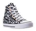 Womens Converse animal zebra tiger High Top Black White Gold