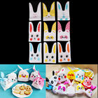 10Pcs Cute Rabbit Ear Bakery Cookie Candy Bags Plastic DIY White Gift Bags FB