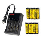 Durable 18650/16340/14500 Rechargeable Battery For Flashlight + 4-Slot Charger