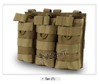 Tactical MOLLE Triple Open-Top Magazine Pouch FAST FAMAS Military Mag