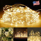 small battery operated led lights - 20/50/100 LED String Battery Operated Copper String Wire Fairy Lights Xmas Party