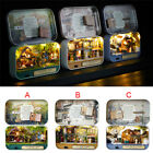 DIY Handcraft Mini Project Wooden Doll House Kit Box Theatre LED Light Home Gift