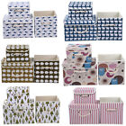 Decorative Pouch BOXES Home Office Bedroom WARDROBE Box ORGANISER Lid Book Pro