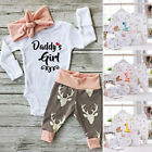 3/5pcs Newborn Infant Outfits Baby Girls Top Rompers + Long Pants Cotton Clothes