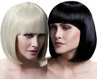 Ladies Professional Quality Natural Short Bob Blunt Cut Fringe Fancy Dress Wig