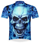 Primal Wear Burning Skull Cycling Jersey Men's short sleeve bicycle bike + socks