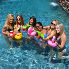 Cute Pool Water Inflatable Swim Floats Cup Holder Drink Holder Party Toy Boat AU