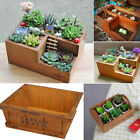 Wooden Garden Herb Planter Window Box Trough Pot Succulent Flower Plant Bed Art