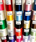 "100mm (4""0) extra wide Satin Sash Ribbon Wedding Ribbon Chair Bows 27 Colours"
