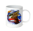 Coffee Cup Travel Mug 11 15 Oz Patriotic USA Eagle Proud To Be an American