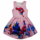 New Cartoon Girl Summer Dress Kids Princess Cosplay Costume 2-7 Y