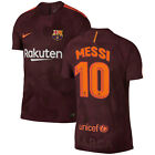 Nike FC Barcelona 2017 - 2018 Messi #10 Third Soccer Jersey Brand New Maroon