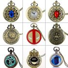 Antique Quartz Pocket Watch Vintage Necklace Steampunk Pendant Chain Retro Gift image