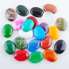 Natural Gem Stone Oval Cabochon CAB No Drill Hole 30x40mm Making Jewelry MBU313