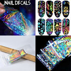 8 X 3D Colorful Nail Art Foil Holographic Sticker Transfer Wrap Decal Manicure