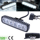 2/4pcs 18W 6 LEDs Long Work Lights Bar Flood Beam Offroad Driving Lamps 4WD SUV