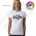 (SUPER GIRLS HEART) Ladies 2018 Hot White T-Shirt Present for girls S-M-L-XL-XXL