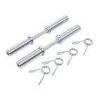 Heavy Duty Barbell 20 Inch Olympic Dumbbell Handle Pair Solid Steel Two Handles