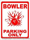 Bowler Parking Only Sign. Size Options. Gift Bowlers Alley Lane Decor Bowling