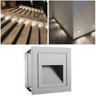 2W LED Outdoor Wall Plinth Recessed White Light Stair Step Hall Corner Lamp IP65