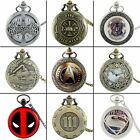 Steampunk Antique Quartz Pocket Watch Vintage Retro Pendant Necklace Chain Retro image