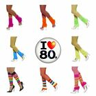 Neon Leg Warmers for 80s Fancy Dress Retro Disco Look for Women