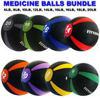 Heavy Duty Weighted Medicine Ball Fitness Muscle Body Workout 8 10 12 14 16 LB image