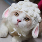 Pet Kitten Woolen Cap Knitted Cosplay sheep Cap For Cat Holiday Party Accessory