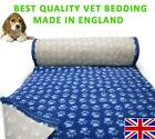 Blue light blue Paws Vet Bedding NON-SLIP ROLL WHELPING FLEECE DOG PUPPY PRO BED