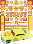 Shell water-slide decals 1/64, 1/32, 1/24, or 1/18 scale slot car, pinewood
