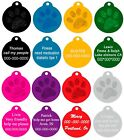 Custom Laser Engraved Aluminum Pets ID Tag Personalized Name Dog Cat ID 2 Sides