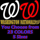 "5"" 10"" 12"" 20"" 23"" Washington Nationals 24 COLORS Car Window Wall Decal Sticker"