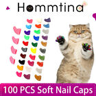 100Pcs Multi-Color Rubber Soft Nail Caps For Cat Claws Puppy Dog Pet Claws+Glue