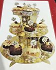 Job Lot 3 Tier Cupcake Stand Gold / Silver Food Platter Display Party Wholesale